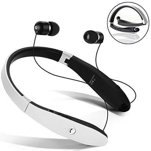 ce3a749b3aa (click photo to check price). 1. [Newest Design] Wireless Bluetooth 4.1  Headset, Retractable and Foldable Neckband Style Headphones.