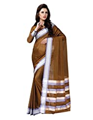 AASRI Women Festival Wear Cotton Blend Printed Zari Border Multicolour Saree - B00O8XV9AU