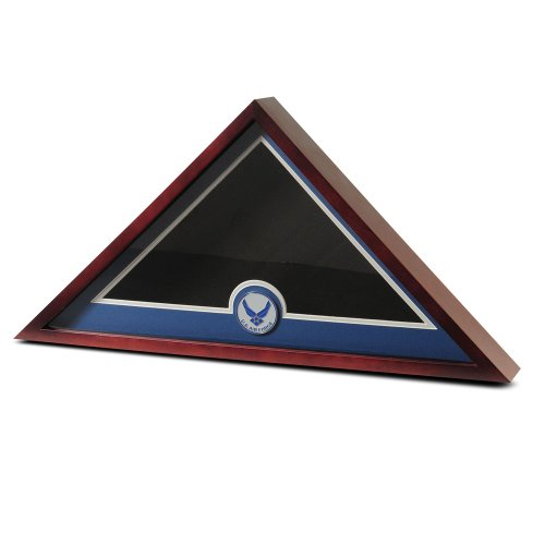 Allied Products Frame U.S. Flag Display Case with Aim High Air Force Medallion Display Case Only (Flag Display Case Air Force compare prices)