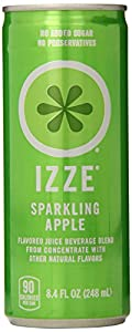 IZZE Fortified Sparkling Juice, Apple, 8.4-Ounce Cans (Pack of 24)