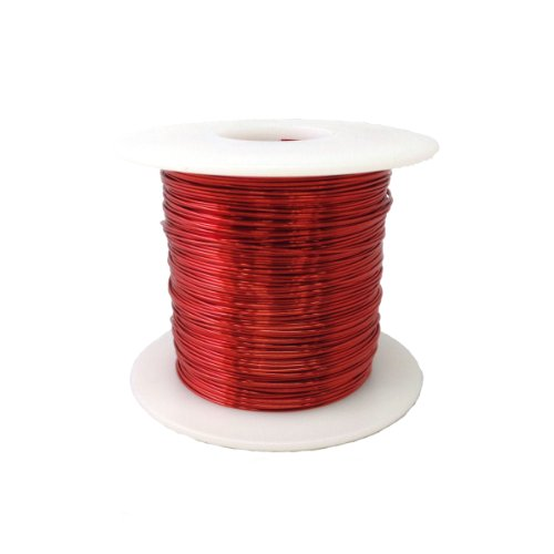 """Magnet Wire, Enameled Copper Wire, 22 Awg, 1.0 Lbs, 507' Length, 0.0263"""" Diameter, Red"""