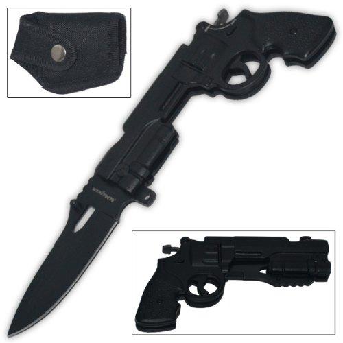 Trigger 44 Mag Pistol Knife Black Assisted-Open