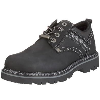 Dockers - Zapatos de cordones de cuero para hombre, color negro, talla 48