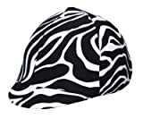Equestrian Riding Helmet Cover - Black and White Zebra