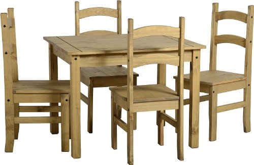 Budget Mexican Wooden Dining Table With 4 Chairs