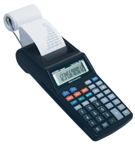 Aurora PR600M 12 Digit Palm Top Printing Calculator