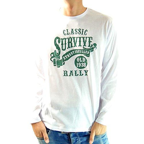 (フリースタイル)Freestyle SURVIVE グラフィック メンズ 長袖 Tシャツ 7495A