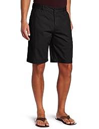 Dockers Men\'s Perfect Short D3 Classic Fit Flat Front, Black, 36