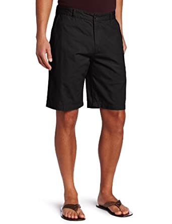 Dockers Men's Perfect Short D3 Classic Fit Flat Front, Black, 30