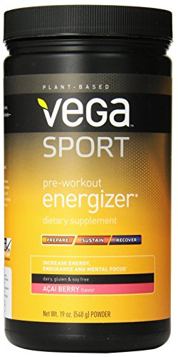 Vega Sport Pre-Workout Energizer, Acai Berry, Tub, 19Oz front-850141
