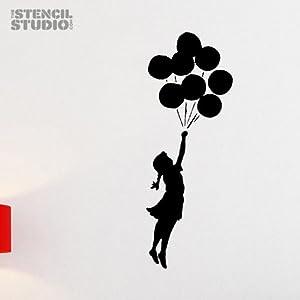 """The Stencil Studio Schablonen, Design """"Mädchen mit Ballon"""", Banksy ..."""