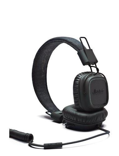Marshall Major Headphones Pitch Black with Hands-Free Speakerphone Black Friday & Cyber Monday 2014