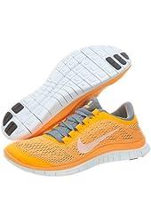 Nike Women's Wmns Free 3.0 V5, BRIGHT CITRUS ORANGE/WHITE-STEALTH GREY