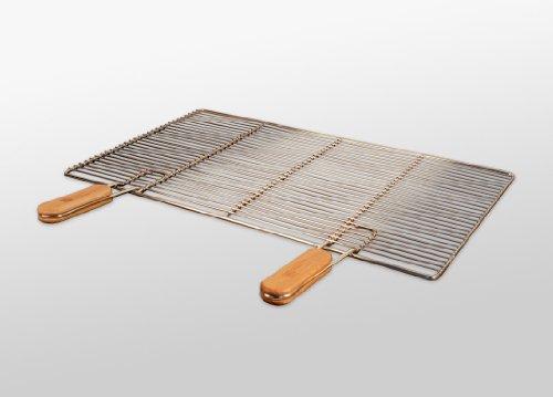 grillrost ausverkauf edelstahl grillrost mit abnehmbaren handgriffen 60 x 40 cm. Black Bedroom Furniture Sets. Home Design Ideas