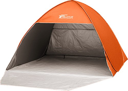 FIELDOOR full close sun shade tent orange (approx.) width 200 cm x 180 cm (depth) × height 135 cm UV cut coating is used (with one-touch easy! Protect from direct sunlight! )