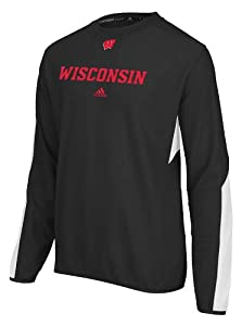 Wisconsin Badgers Adidas NCAA Sideline Long Sleeve T-Shirt (Black) by adidas