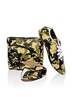 FOLDY Zapatos de cordones (Verde Camuflaje / Negro)