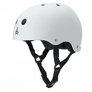 Triple 8 Brainsaver Heed Rubber Helmet by Triple 8