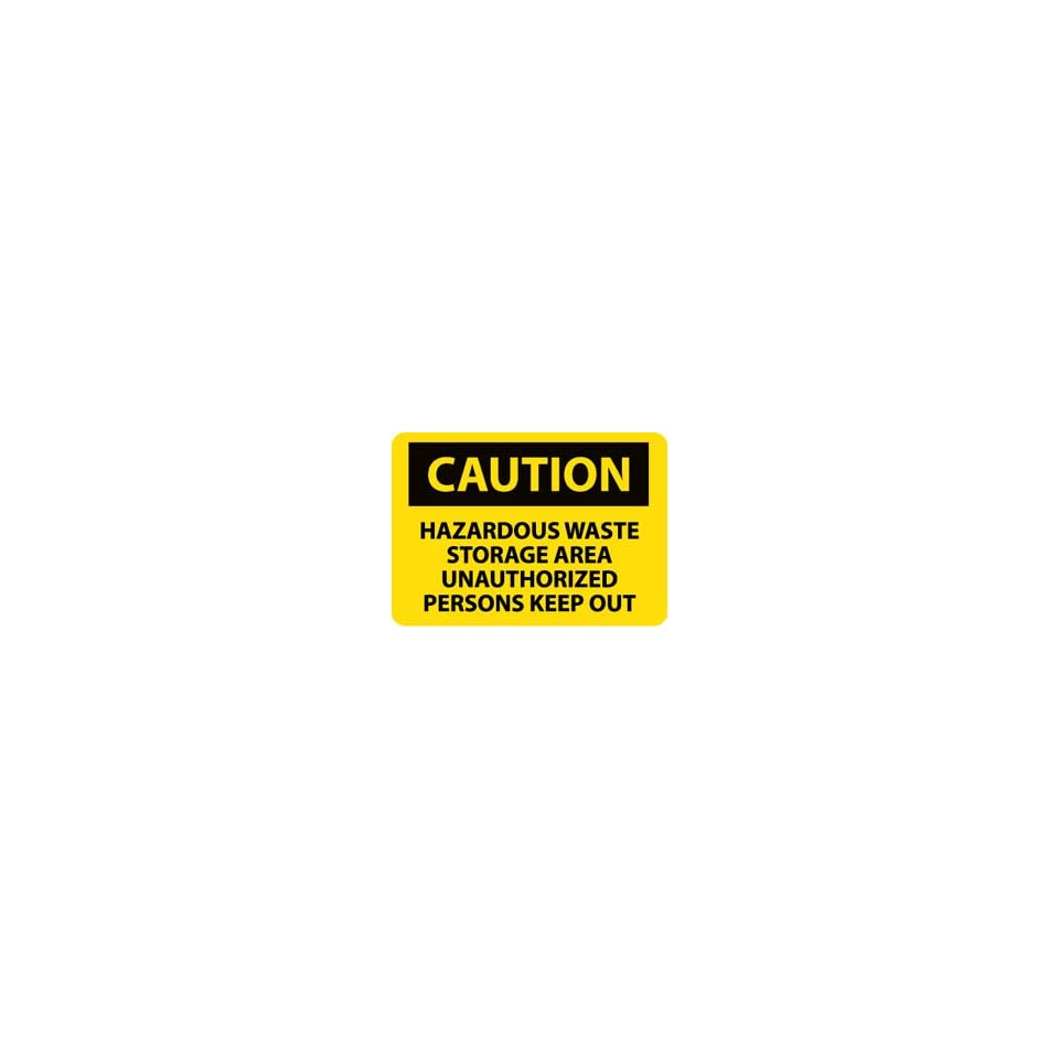 C512RB   Caution, Hazardous Waste Storage Area Unauthorized Persons Keep Out,