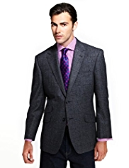 Sartorial Luxury 2 Button Checked Jacket with Wool