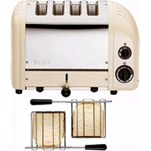 Dualit 2 x 2 Combi Vario 4 Slice Toaster Utility Cream Dimensions: 220(H) x 360(W) x 210(D)mm