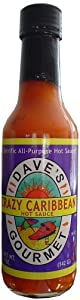 Dave's Crazy Caribbean Hot Sauce with Rican Red Habanero Peppers from Dave's Gourmet