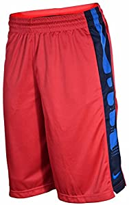 Nike Men's Elite Stripe Basketball Shorts-Fuschia-Large