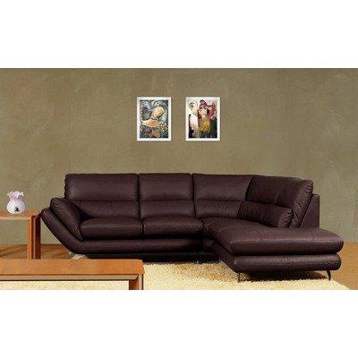 Furniture Living Room Furniture Sectional Sofa Dark Brown Sectional Sofa