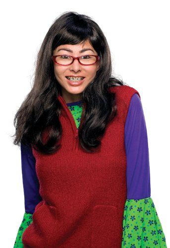 Ugly Betty Wig, Glasses & Fake Braces Teeth 51670