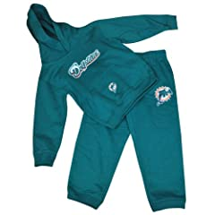 NFL Reebok Miami Dolphins Fins DK3180 Hoodie & Pant 2 Piece Set Kids Aqua by Officially Licensed NFL Product