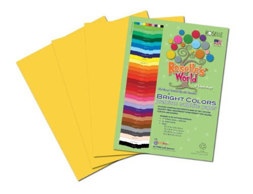 Roselle Bright Colors Suphite Construction Paper, 9 x 12 Inches, Gold, 50 Sheets Per Package (76901) - 1