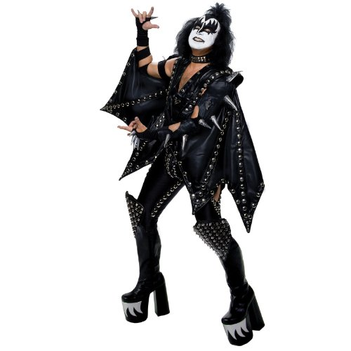 KISS Deluxe Demon Costume - Standard - Chest Size 42-44