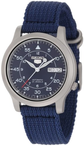 Seiko Men's SNK807 Seiko 5 Automatic Blue Canvas