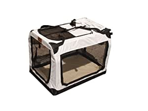 Faltbare Transportbox Hundebox Faltbox XXXL grau 102x69x69cm
