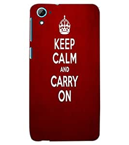 HTC DESIRE 826 KEEP CALM Back Cover by PRINTSWAG