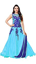 Madhav FashionSemi-stitched Salwar Suit Dupatta Material in Blue