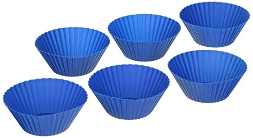 Le Creuset Silicone 6-Piece Baking Cups, Marseille (Le Creuset Silicone Baking Cups compare prices)