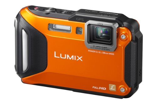 Panasonic DMC-FT5EG9-D Lumix Digitalkamera (7,5 cm (3 Zoll) LCD-Display MOS-Sensor, 16,1 Megapixel, 4,6-fach opt. Zoom, microHDMI, USB, bis 13m wasserdicht) orange
