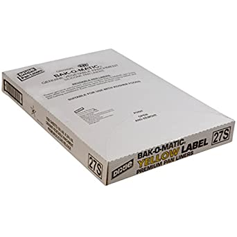 "Dixie 27S Yellow-Label Parchment Pan Liner, 16.38"" Length x 24.38"" Width, White (Case of 1,000)"