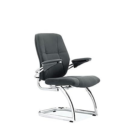 Nero moderno sedia cantilever con struttura cromata
