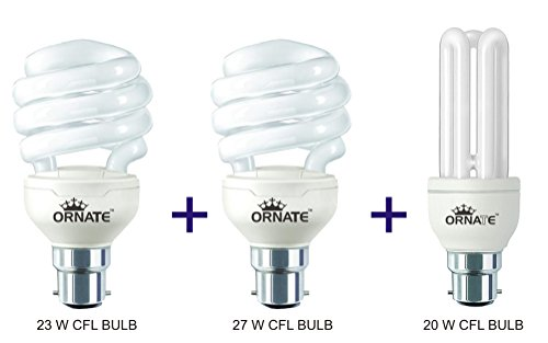 Ornate-20W,-23W-And-27W-B22-CFL-Bulb-Combo-(White)