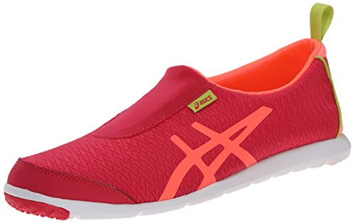ASICS Women's Metrolyte Slip On Walking Shoe, Raspberry/Mango/Lime Yellow, 8 M US
