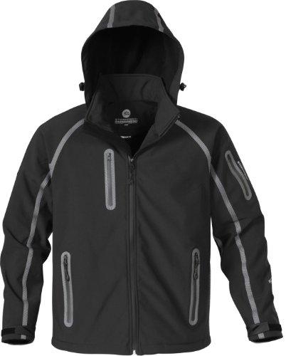 Stormtech ST065 Polyester Men's Waterproof Bonded Shell Jacket, X-Large, Black/Granite