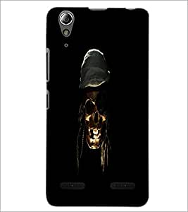 PrintDhaba Pirate's Skull D-1181 Back Case Cover for LENOVO A6000 (Multi-Coloured)