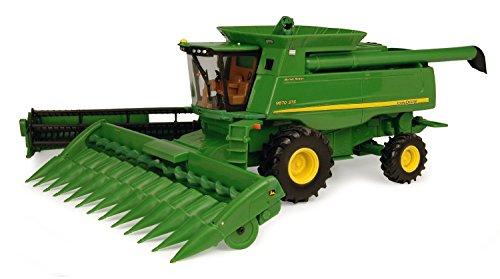 Ertl John Deere 9870 STS Combine With Grain Head And Revised Corn Head Dealer Edition, 1:32 Scale
