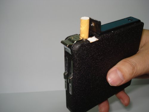 20 pack Automatic Loading Cigarette Case Dispenser With Built in Torch Lighter- FOR KING SIZE CIGARETTES