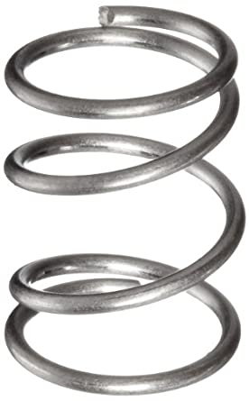 "Compression Spring, 316 Stainless Steel, Inch, 0.18"" OD, 0.016"" Wire Size (Pack of 10)"