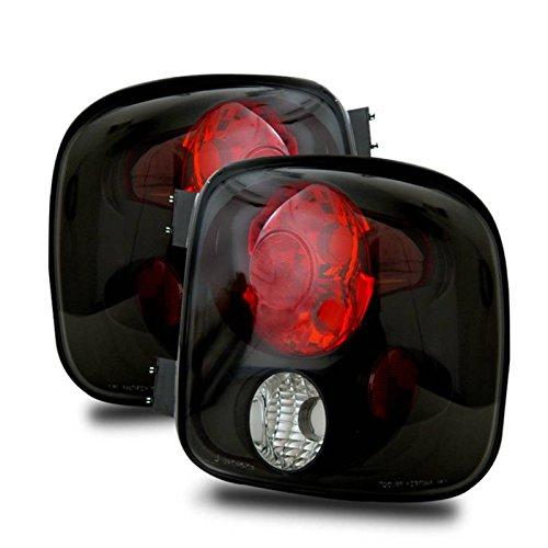 SPPC Black Euro Tail Lights For Chevy Silverado : GMC Sierra - (Pair) (Stepside Silverado Taillights compare prices)