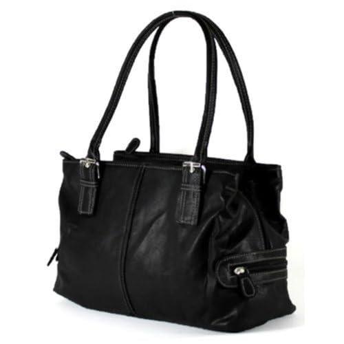 Ladies Designer Shoulder Handbag 3 Secure Zipped Compartments Work Office College Bag