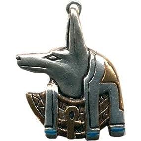 ▼アヌビス・ペンダント●エジプト神話における死者の神-アヌビス。人生を旅する良き指導者としてあなたを守ってくれることでしょう。